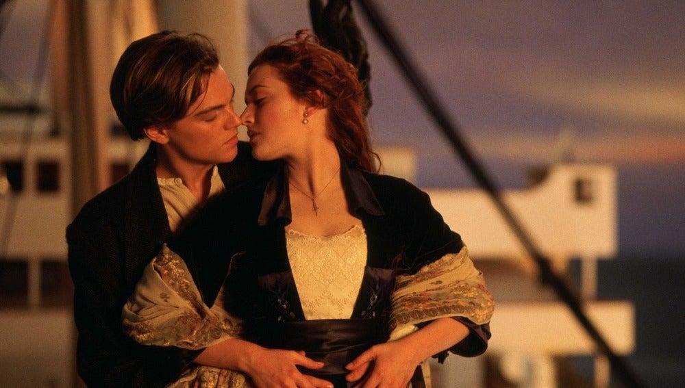 Jack y Rose en 'Titanic'