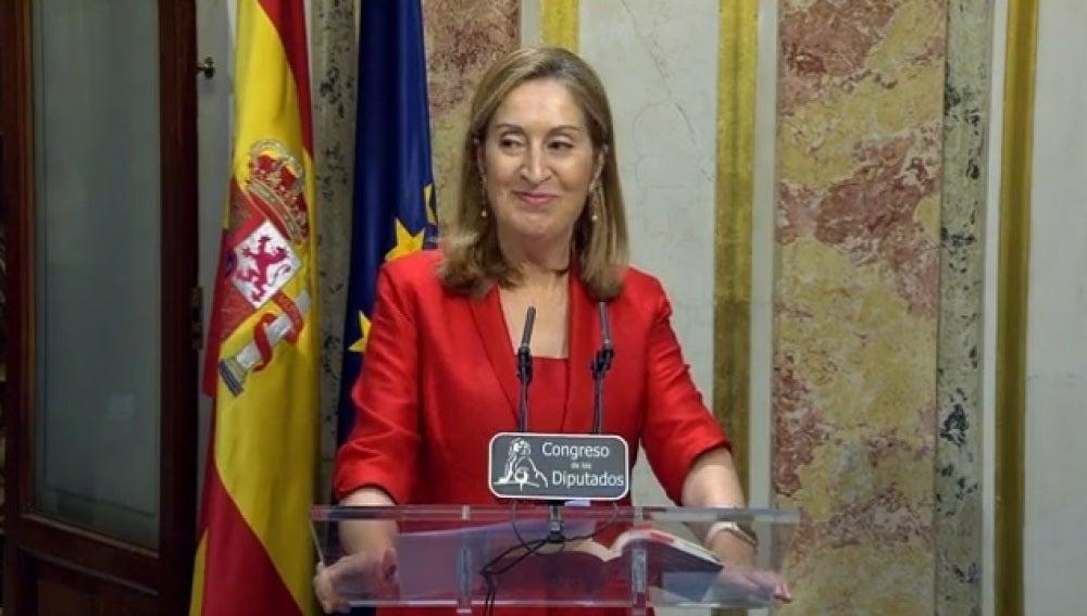 Ana Pastor tras su reunión con el Rey Felipe VI
