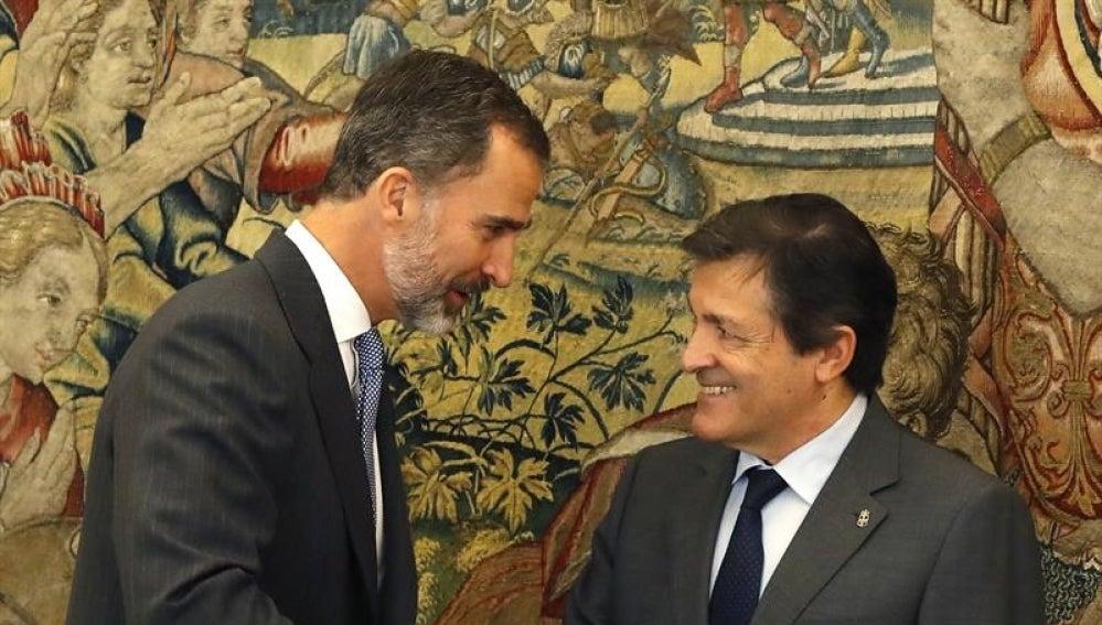 El Rey Felipe VI y Javier Fernández