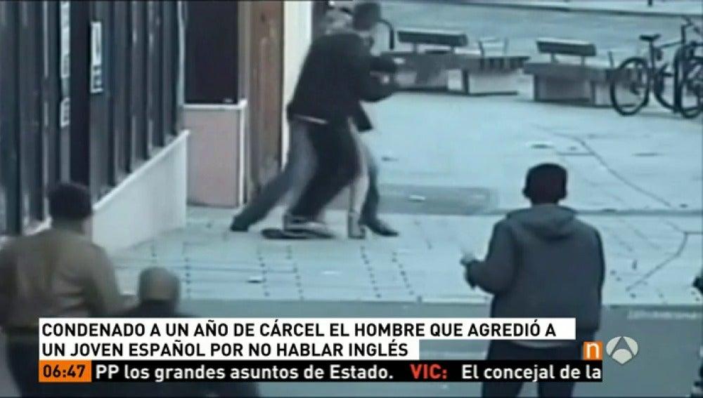 Agresión a un español