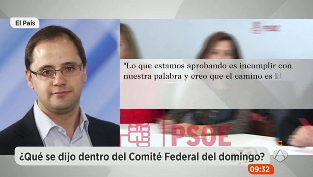 César Luena en el Comité Federal