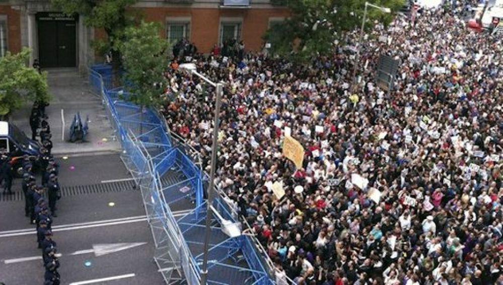Manifestación de 'Rodea el Congreso', en una imagen de archivo..