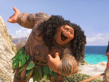 Maui le canta a Vaiana