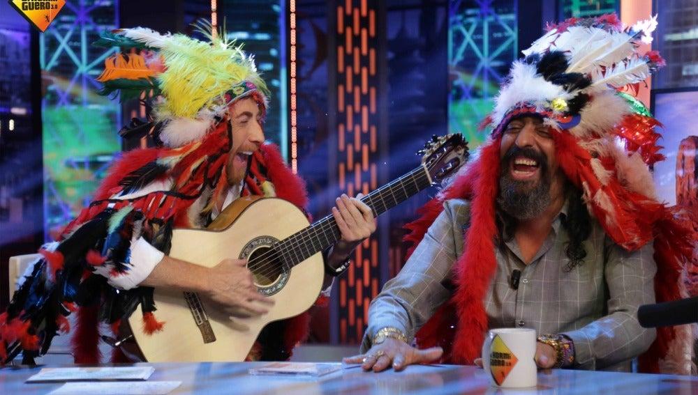 Así sería un espectáculo de Diego El Cigala si fuera un jefe indio