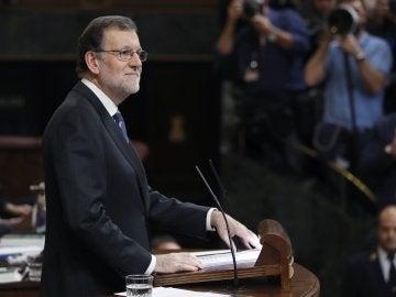 Mariano Rajoy durante su discurso en la primera sesión de investidura