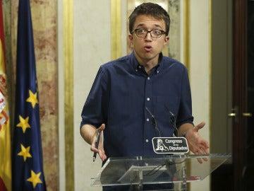Íñigo Errejón tras la primera jornada del debate de investidura
