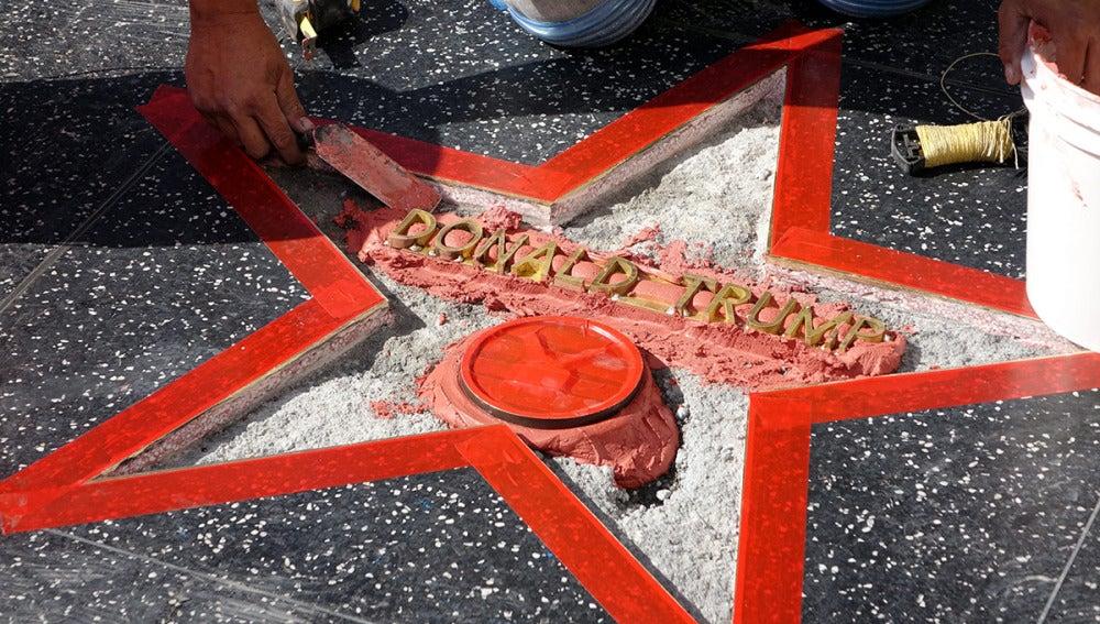 Reparan la 'Estrella de la Fama' de Donald Trump