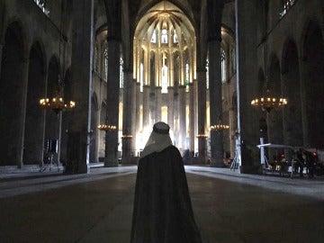 Michelle Jenner en la Basílica de Santa María del Mar