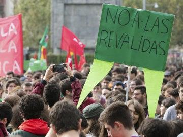 Manifestación contra las reválidas de la LOMCE