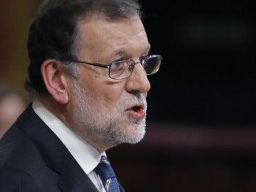 Rajoy durante su discurso de investidura
