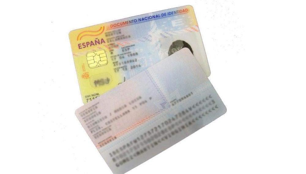 Imagen de un DNI electrónico