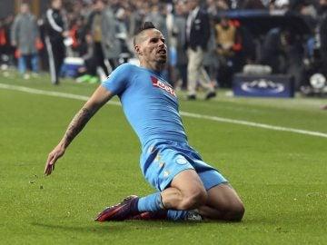 Hamsik celebra su gol ante el Besiktas