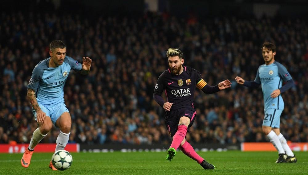 Leo Messi pone el 0-1 en el marcador a favor del Barça
