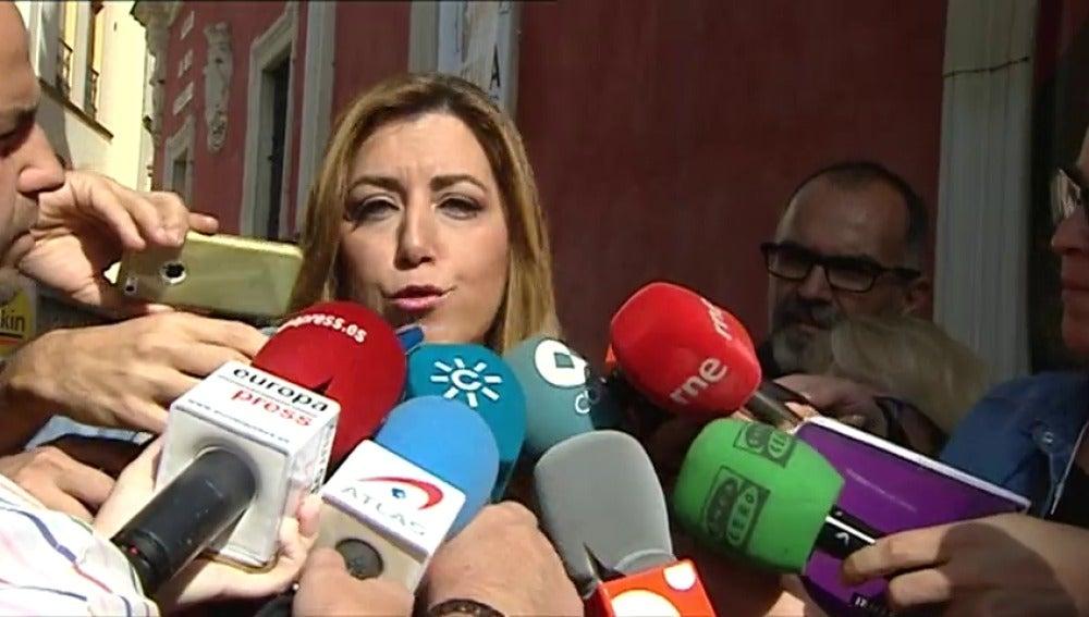 """Frame 14.302368 de: Susana Díaz considera que no es momento para """"proyectos personalistas"""" en el PSOE"""