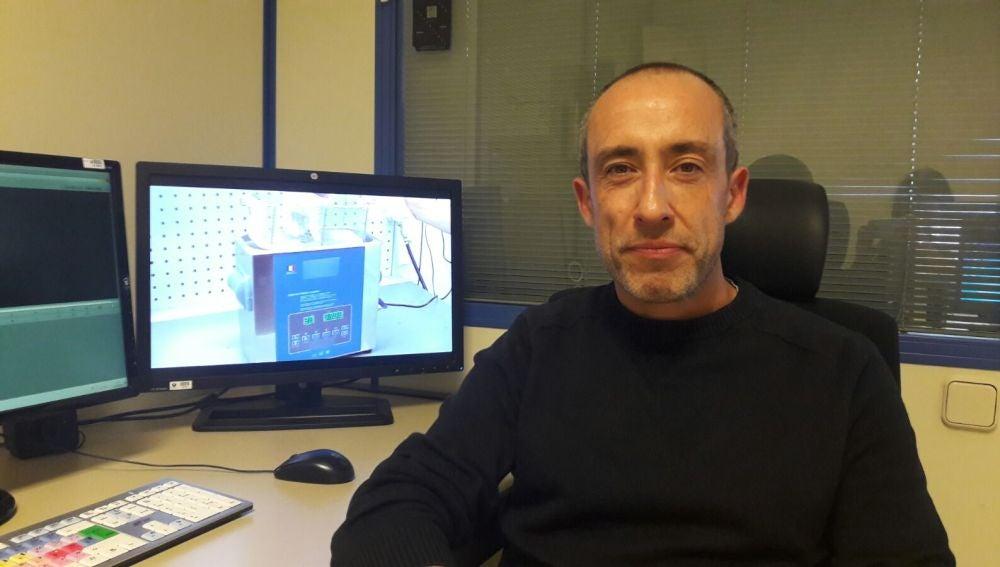 Alfonso Egea en un momento de encuentro con los internautas.