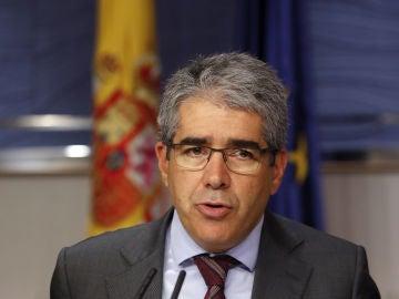 Francesc Homs durante su comparecencia en el Congreso