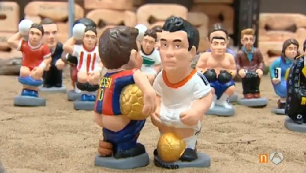 Messi y Cristiano, protagonistas de los 'Caganers' 2016