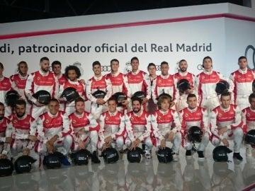 Los jugadores del Real Madrid, en los karts