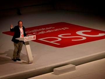 Miquel Iceta durante el congreso del PSC