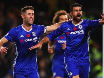 Diego Costa celebra uno de sus goles con el Chelsea