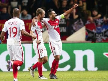 Falcao celebra un gol