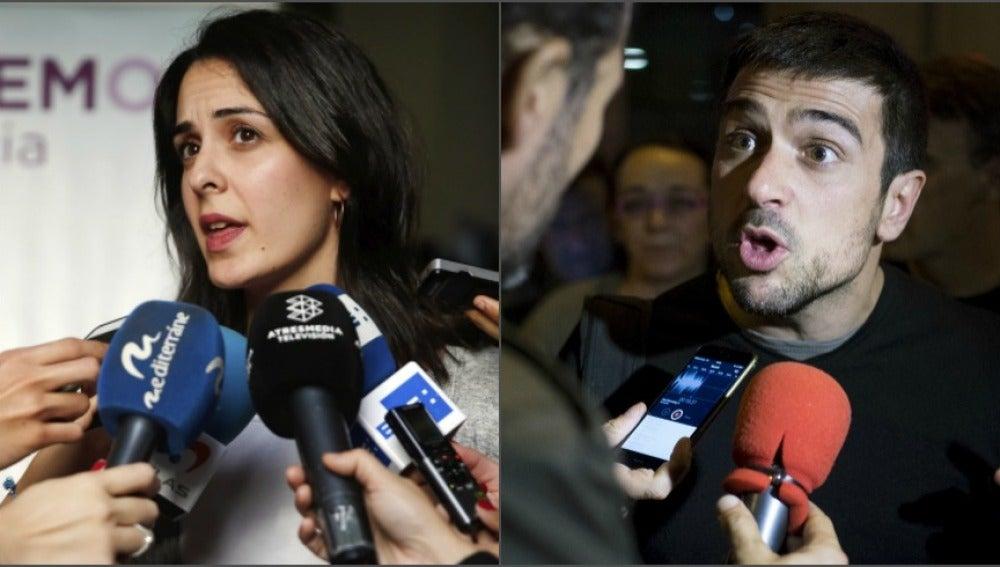Ramon Espinar y Rita Maestre