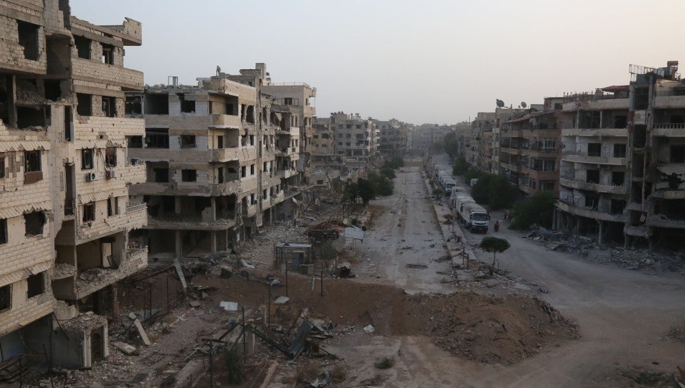 Ataques en Harasta, en Siria