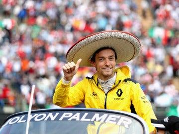 Jolyon Palmer, durante el GP de México