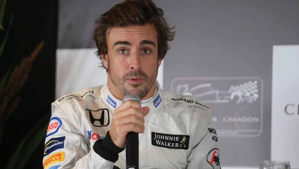 Fernando Alonso, durante un acto publicitario
