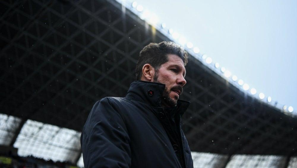 Simeone, en un partido con el Atlético