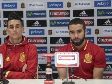 Carvajal con Callejón en rueda de prensa