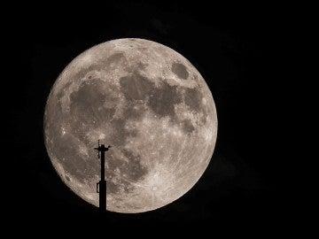 Vista de la superluna en Illinois