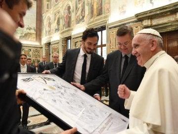 El Papa recibe a la selección de Alemania