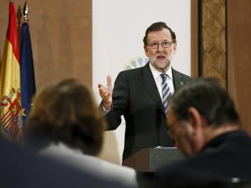 Mariano Rajoy, en su viaje a Marruecos