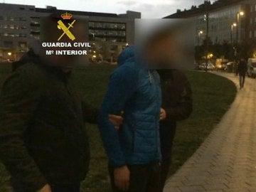 Fotografía facilitada por la Guardia Civil de uno de los ocho detenidos por la agresión en Alsasua