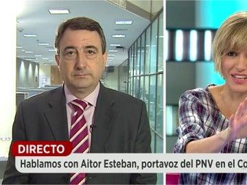 Aitor Esteban en Espejo Público