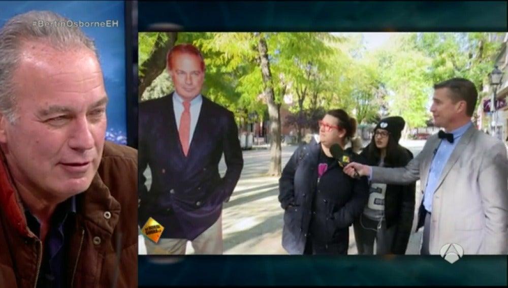 Frame 39.524707 de: Las jóvenes españolas confunde a Bertín Osborne con Donald Trump