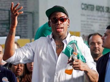 El exjugador de la NBA Dennis Rodman