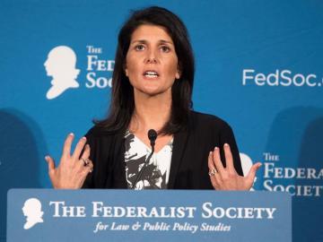 La gobernadora de Carolina del Sur, Nikki Haley