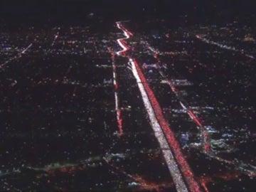 Atasco en una carretera de Los Ángeles