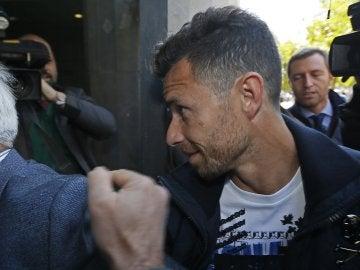 Rubén Castro, entrando en el juzgado