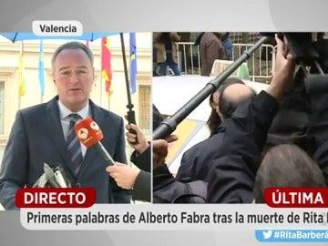 Alberto Fabra reacciona a la muerte de Rita Barbera