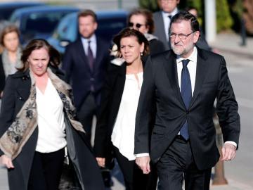 Rajoy, en el funeral de Rita Barberá