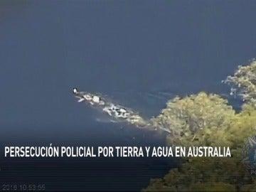 Frame 23.215604 de: Persecución policial por carretera y a nado por un río