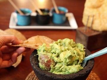 El guacamole del restaurante Oaxaca.