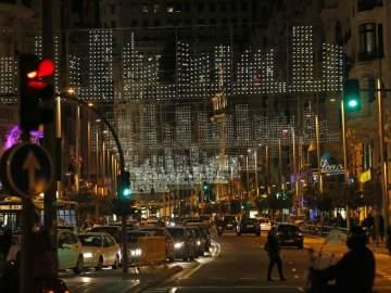 Gran Vía de Madrid iluminada por Navidad