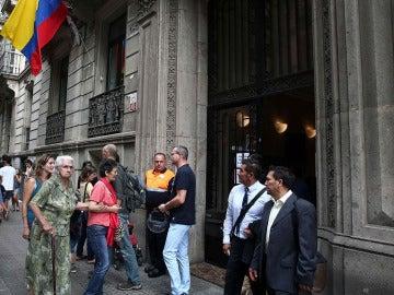 Entrada del consulado de Colombia en Barcelona