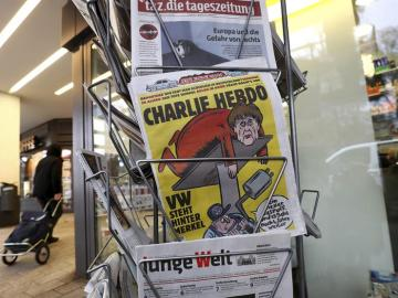 Angela Merkel en la portada de 'Charlie Hebdo'