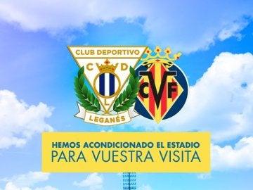 El cartel promocional del Leganés - Villarreal
