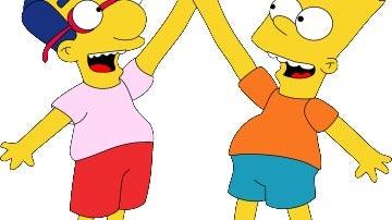 Milhouse y Bart